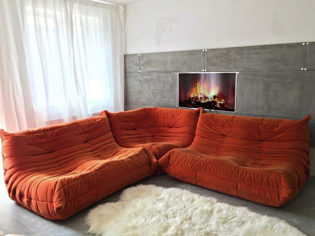 Alcantara Shape originalul Orange