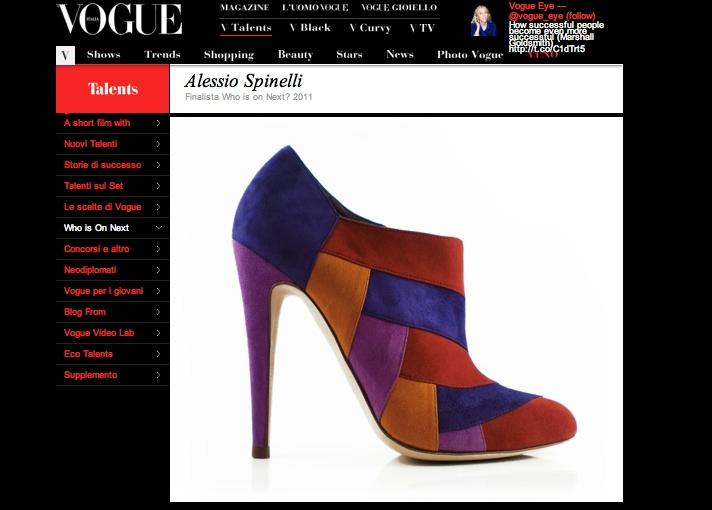 Pantofi alcantara de Alessio Spinelli Roma Vogue