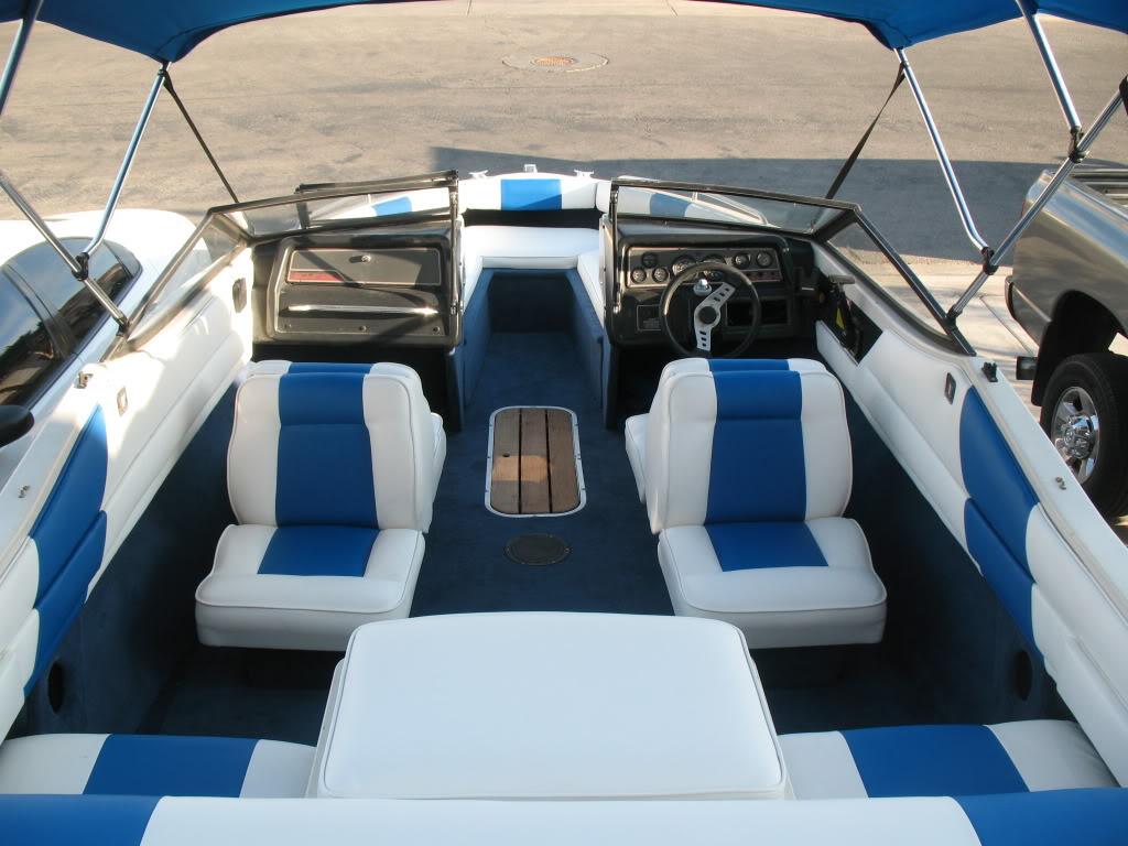 Piele barci ignifugata Albastru