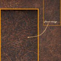 Piele vintage Orange HARLEY 402 antichizata